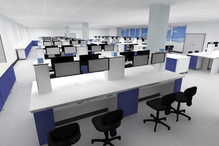 3D Rendering of VIN University Lab - Virtual Worlds