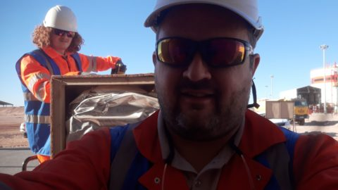 S+B installation team in Algeria