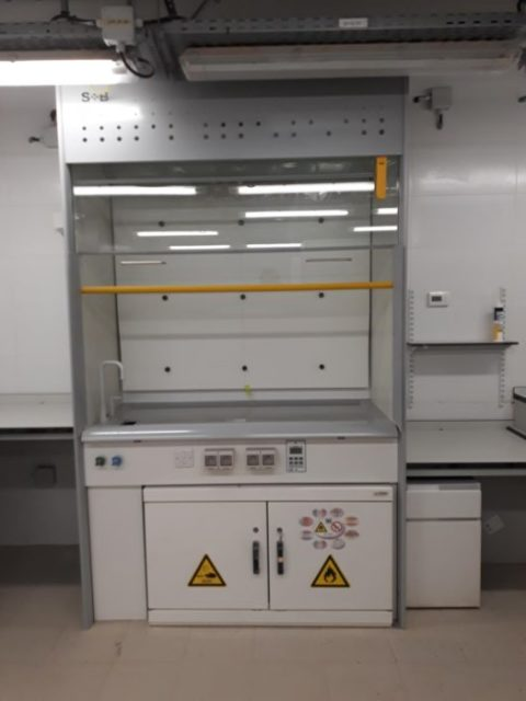 Fume cupboard installed in Algeria Lab