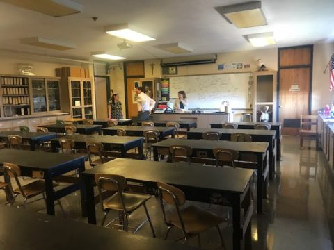 Science lab before renovation