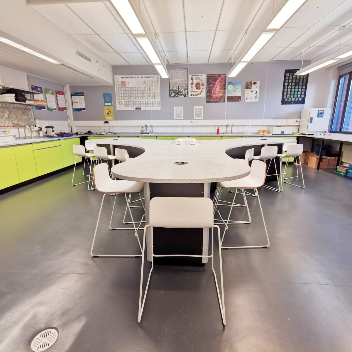 Science laboratory at International School of Helsinki installed by S+B UK