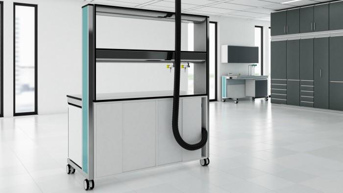 Modular laboratory furniture by S+B