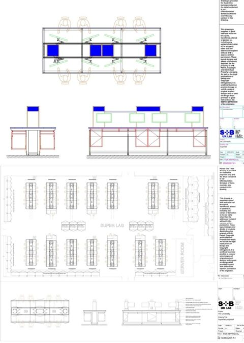 Vin University Lab Bench - 2D AutoCAD drawing